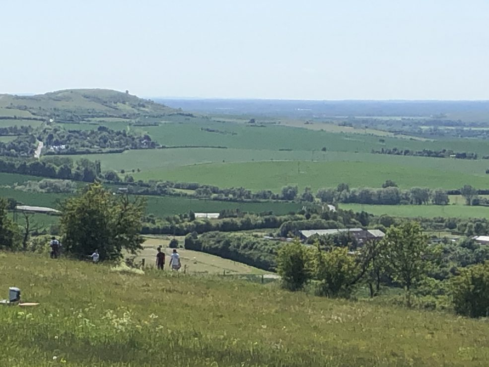 A photo from the top of Dunstable Downs