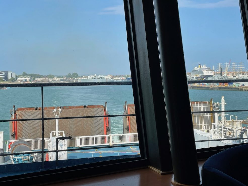 View of Portsmouth harbour as we left on the ferry.